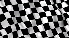 Checkered racing flag - stock footage
