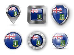 British Virgin Islands Stock Illustration