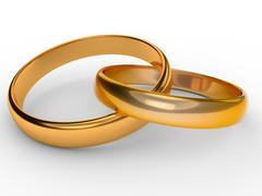 Gold rings wedding Stock Illustration