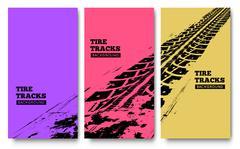 Stock Illustration of Tire tracks background