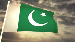 Flag Pakistan Stock Footage