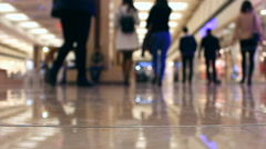 People walking in the hypermarket Stock Footage