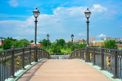 Bridge in Tsaritsyno Park - stock photo