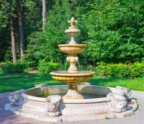 Stock Photo of Beautiful ancient fountain