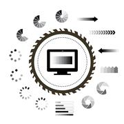 Loading and technology symbol Piirros