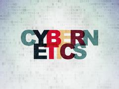 Science concept: Cybernetics on Digital Paper background - stock illustration