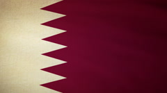 Flag Qatar Stock Footage