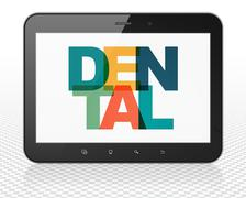 Health concept: Tablet Pc Computer with Dental on  display Stock Illustration