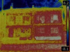 Semi Detached House Infrared - stock photo