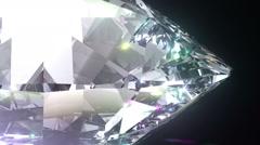 Seamless Turning 3D Brilliant Diamond. Stock Footage