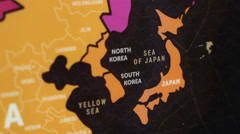 Japan Map Background - stock footage