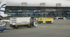 Airport security truck Stock Footage