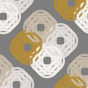 Seamless Colorful Abstract Pattern like Knitted Wool from Repetitive Shapes - stock illustration