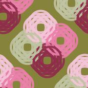 Seamless Colorful Abstract Pattern like Knitted Wool from Repetitive Shapes Stock Illustration
