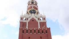 Kremlin Clock. Moscow ''Red Square'' Stock Footage