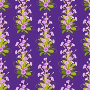 Violet primroses pattern. - stock illustration
