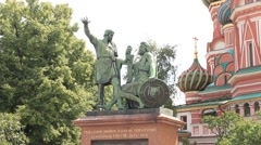 Moscow ''Red Square'' Monument  Stock Footage