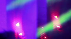 Abstract night club background, silhouettes of people having fun on dance floor Stock Footage