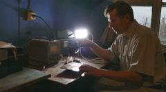 Repair soldering chips Stock Footage