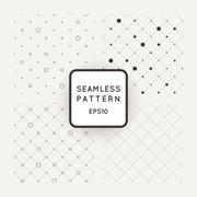 Set of vector seamless mesh-patterns, grids of dots - stock illustration