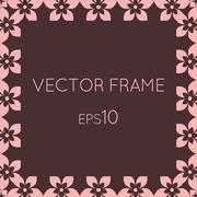 Stock Illustration of Vector square flower frame for text, images, monograms, photo frames