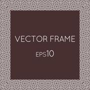Stock Illustration of Vector square flower frame for text, images, monograms, photo frames