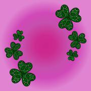 clover shamrock as a symbol of holiday St. Patrick's Day in Ireland. - stock illustration