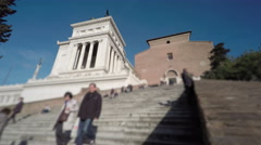 Italy Rome church steps time lapse Stock Footage