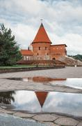 Old medieval castle in Kaunas - stock photo