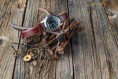 rust watch gear - stock photo