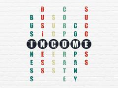 Finance concept: Income in Crossword Puzzle Stock Illustration