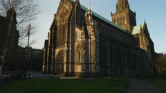 Cathedral in Glasow, Scotland Stock Footage
