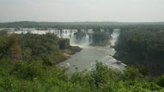 Iguacu Falls in Brazil Stock Footage