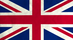 British flag waving in the wind (full frame footage) - stock footage