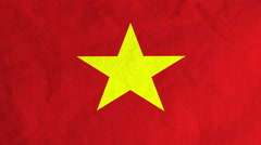 Vietnamese flag waving in the wind (full frame footage) Stock Footage