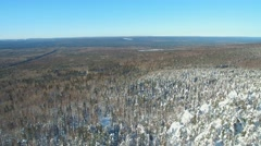 Ural expanses aerial view winter Stock Footage