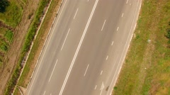 Country Freeway And Several Cars Moving Fast - stock footage