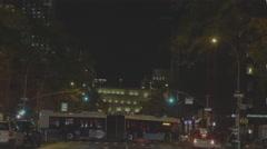 Movi through NYC street Stock Footage