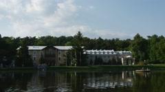 Park of Sanatorium in Naleczow, Poland Stock Footage