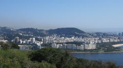 Rio de Janeiro viewed from the Sugarloaf Mountain Stock Footage
