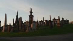 Necropolis in Glasgow, Scotland Stock Footage