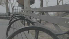 Empty bench Stock Footage