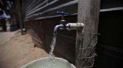 Water spigot in Guatemala - stock footage