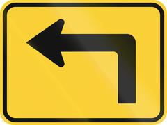 Stock Illustration of United States MUTCD warning road sign - Direction sign