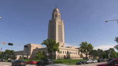 Nebraska State Capitol Building Stock Footage
