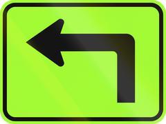 United States MUTCD warning road sign - Direction sign - stock illustration