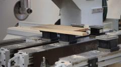 cnc wood saw machine - stock footage