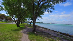 Haulover Beach scenic path Stock Footage