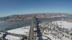Aerial, 4K, Jacques Cartier Bridge - Montreal, Stock Footage