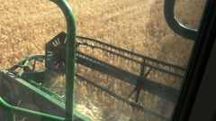 Reciprocating knife cutter bar of a combine harvester Stock Footage